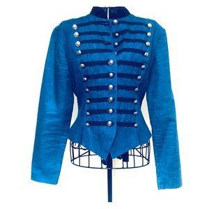 Vintage Misty Lane denim military style jacket